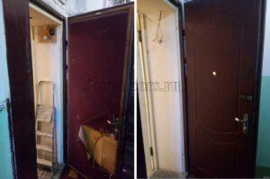 Обшивка дверей панелями МДФ