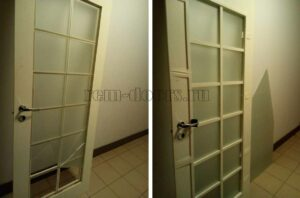 Ремонт двери замена стекла